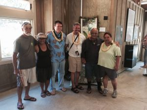 Members of Hoʻokahe Wai Hoʻoulu ʻĀina at the grand opening of the Kānewai Cultural Resource Center.