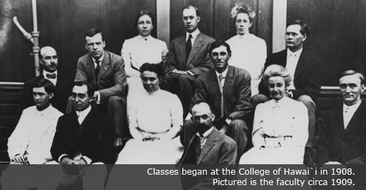 UH Manoa faculty circa 1909