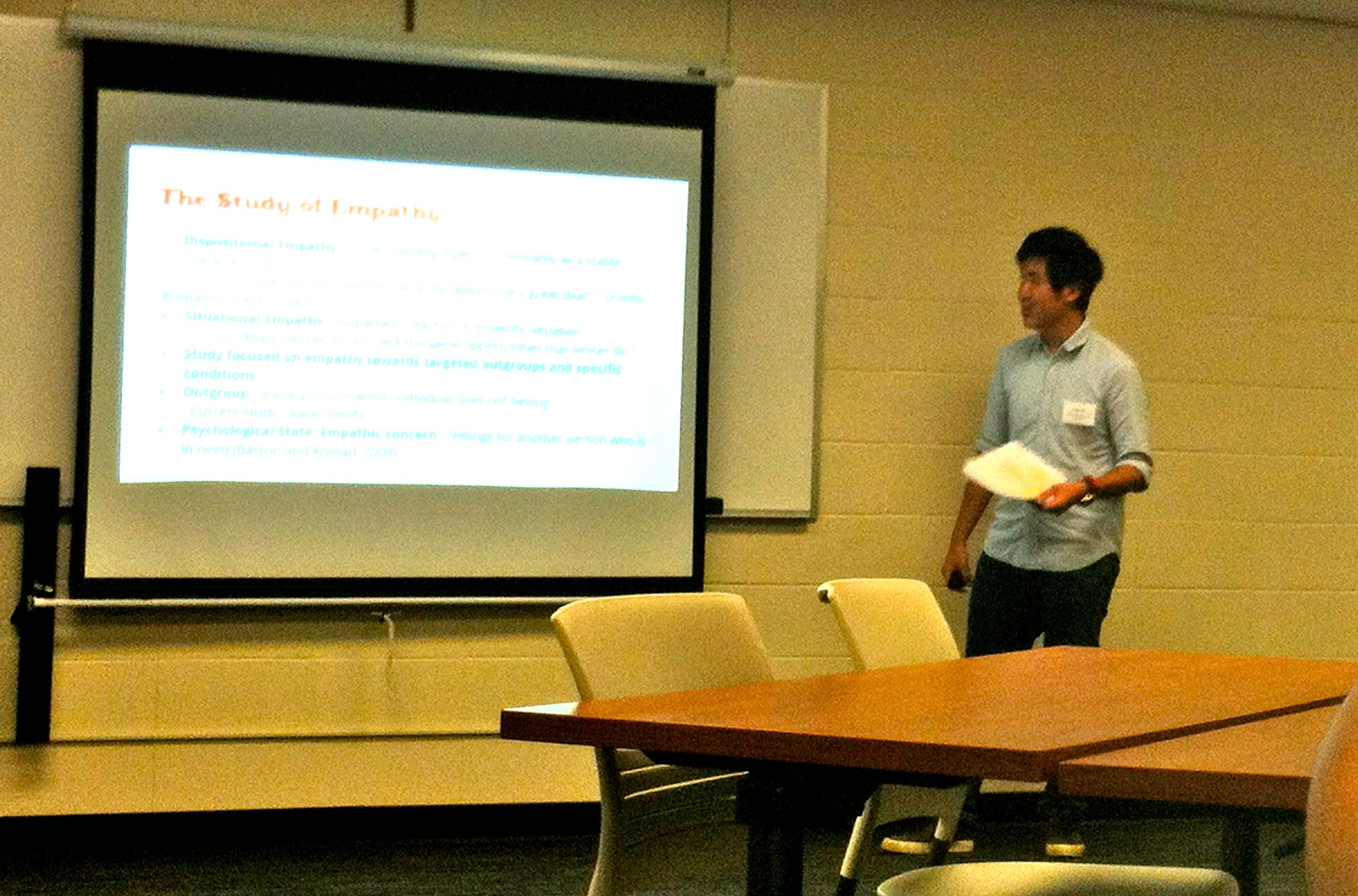 John Wu presenting at the 2nd Annual Psychology Research Conference at Chaminade University