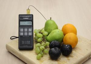 Fruit with a thermometer