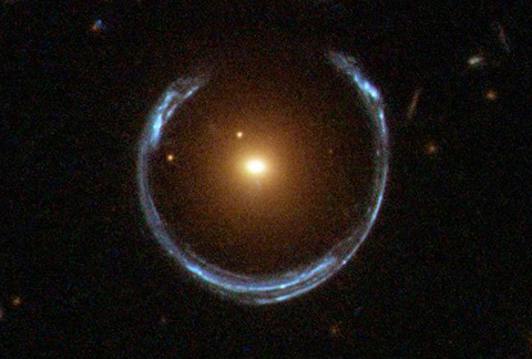 Blue Einstein ring