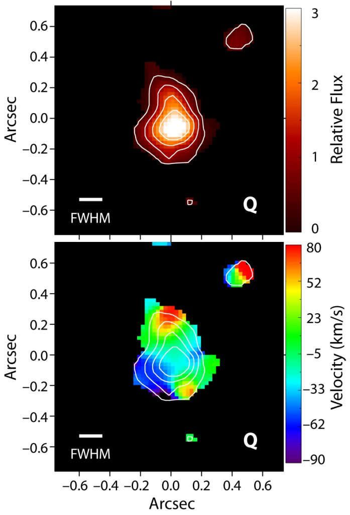Image of movement of gas in the galaxy
