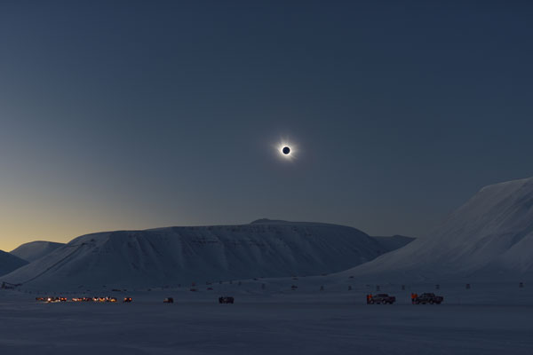 Eclipse over Svalbard.