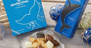 Every Whale Collection gift box and Whale Collection wrap box purchased helps preserve the unique biodiversity of the Hawaiian Islands. (credit: Honolulu Cookie Company)