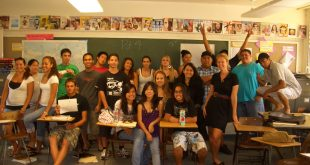 Amber Makaiau with High School students