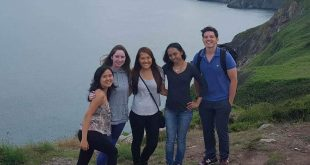 Nursing students during a summer study abroad program
