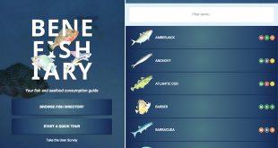 Screenshots of the BeneFISHiary app