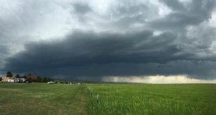 Storm as seen from storm balloon release site on the Jonathan Merage Research Ranch in Colorado