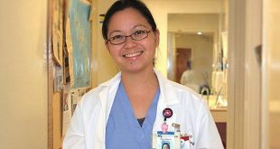 Family Medicine doctor January Andaya, (John A. Burns School of Medicine 2016) at the Mililani Physician Center.