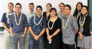 From left are Andrew Turner, Glen Chew, BJ Fulton, Jamal Haidar, Emily First, Amy Hruska, Bill Wright, Bob Nakata, Melia Iwamoto and Amanda Lee.