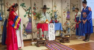 Sang Lee presides over re-enactment of traditional Korean wedding ceremony
