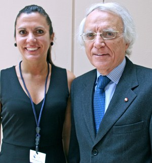 Angela Bononi and Vito Campese, president of ISSNAF.