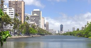 The Ala Wai Canal in Waikīkī