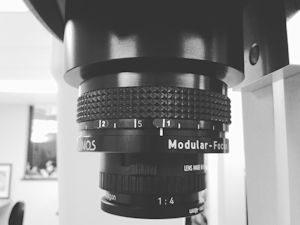 close-up of scanner camera