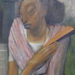 Mestiza with Orange Fan oil by Jean Charlot