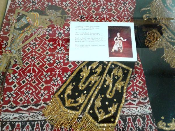 Gamelan clothing on display