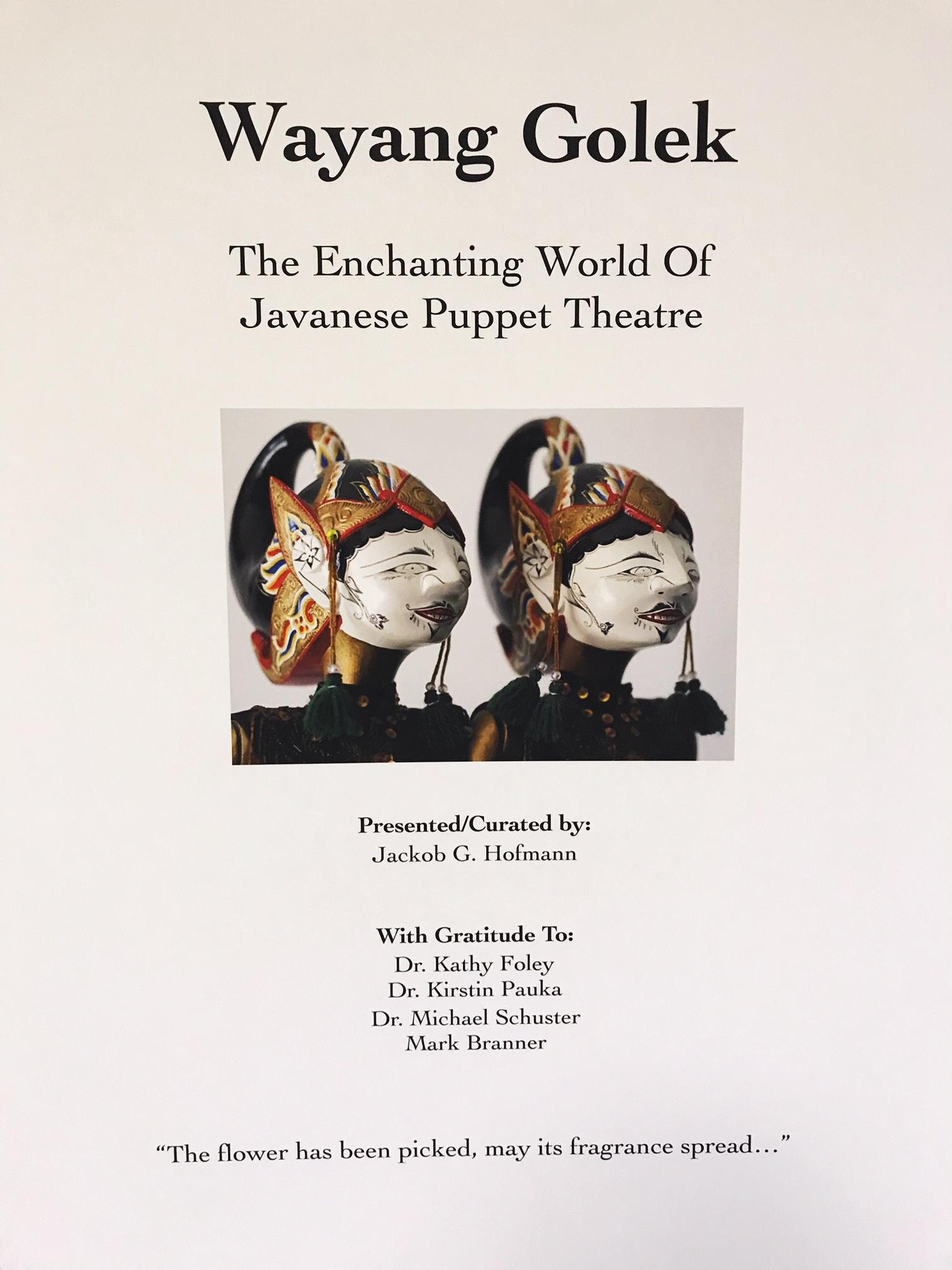 Wayang Golek. The enchanting world of javanese puppet theatre