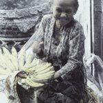 Photograph of Indonesian banana seller by Penny Kaiman-Rayner.