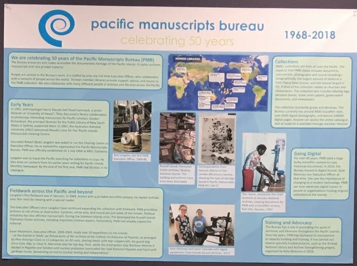 Poster for Pacific Manuscript Bureau: Celebrating 50 Years Exhibit