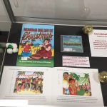 Display of local books for Christmas in Hawaii exhibit
