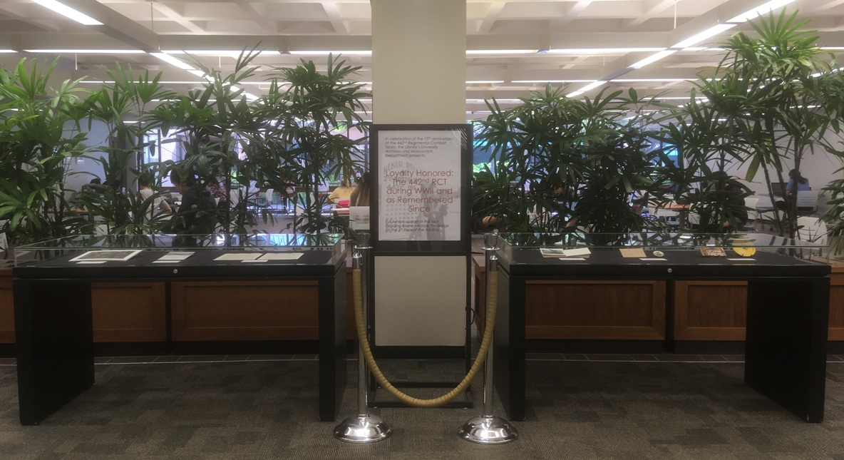 Lobby display cases for exhibit