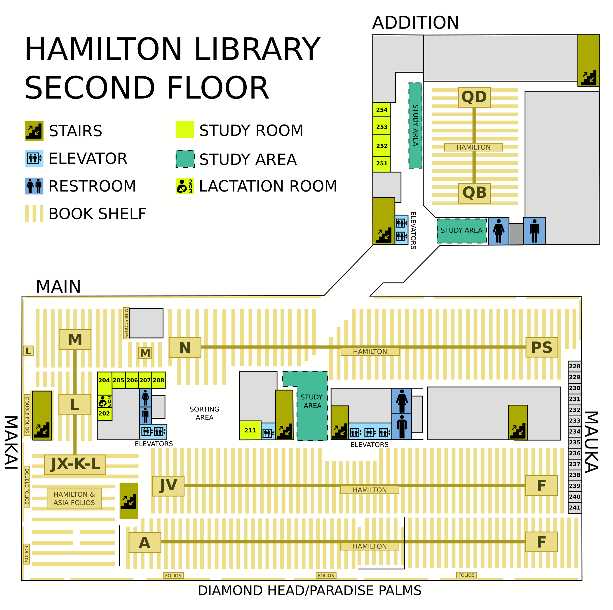 Hamilton second floor map