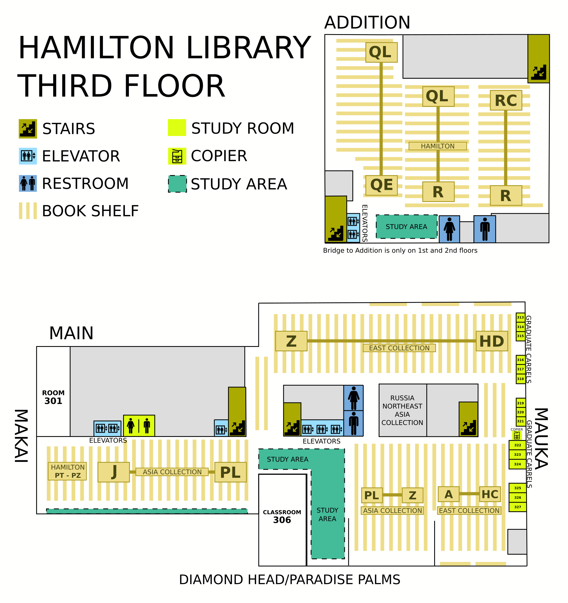Hamilton third floor map
