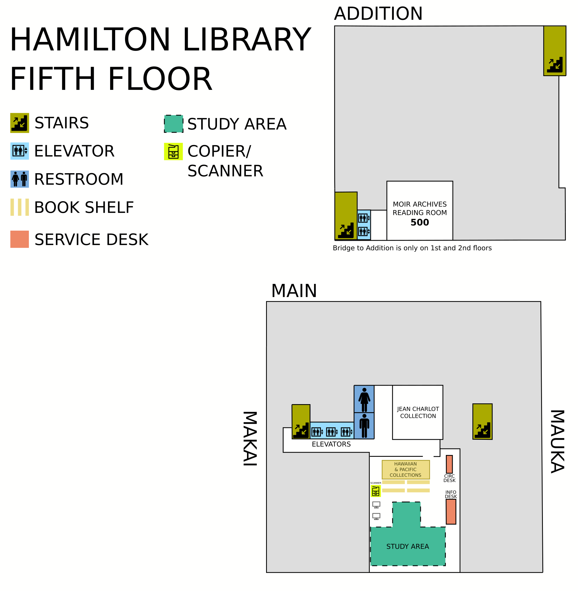 Hamilton fifth floor map