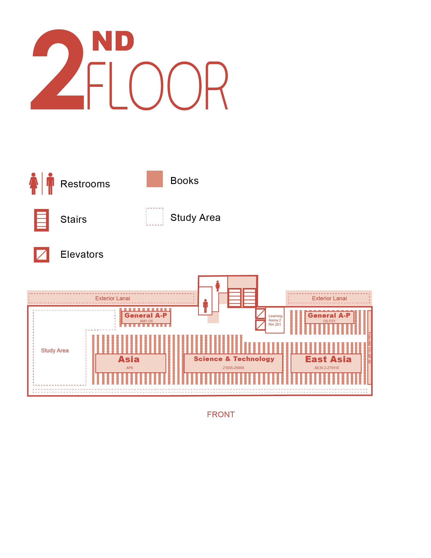 Sinclair second floor map