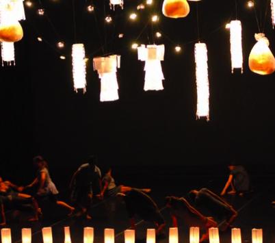 Group of performers dancing
