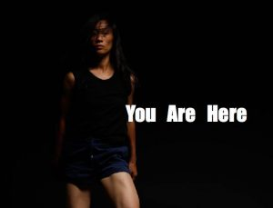 """Picture of Peiling Kao with words reading """"You are here"""""""