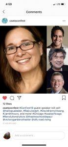 Headshots of 2018 CAATA Keynote Speakers. Baker, Joseph, Hwang, Khoury
