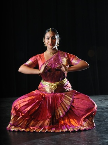 Photo from Fall Footholds of dancer in traditional Indian costuming