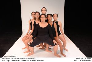 Six dancers in a formation