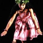 Hula dancer in pose