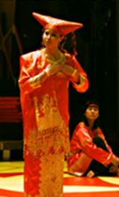 Two performers part of the Asian theatre focus