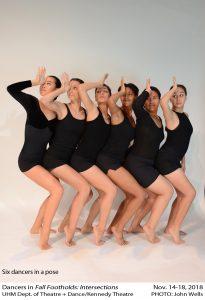Six dancers in a pose