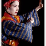 Single performer in kimono