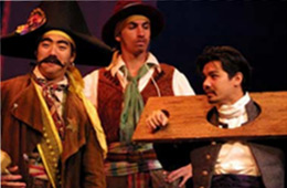Three performers as part of the Western Theatre focus