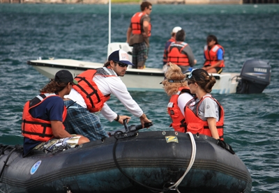 Students in Motorboat Operator Certification Course
