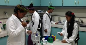 STEP-UP students introduced to the new laboratory.