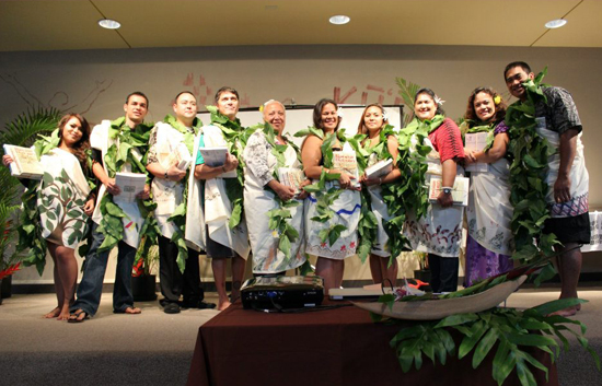 Students graduating from summer bridge program
