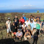 EA Hawaiʻi Field School group posing for a picture with Kahoʻolawe in the background