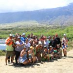 EA Hawaiʻi Field School group posing for a picture at Nuʻu