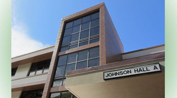 The front of Johnson Hall