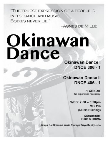 Okinawan Dance Flyer