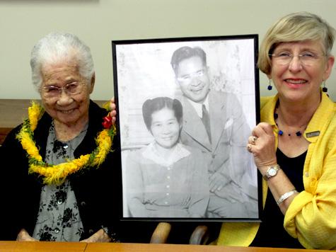 Tsuruko Nakasone & Chancellor Hinshaw