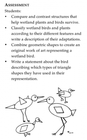 <p>Fig. 1. Students understand more about the adaptations in wetlands in this activity ʻMath in the Marsh' from <em>Aloha ʻĀina</em>.</p>