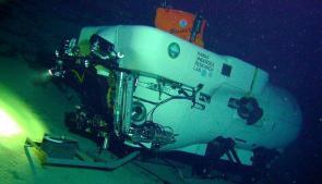 <p>Fig. 6. The Pisces IV underwater.</p>