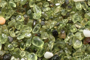 <p>Fig. 4. Olivine sand found on the island of Hawai'i.</p>